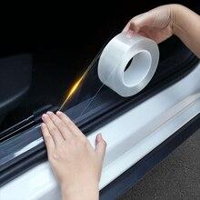 Pegatinas para coche, Protector para puerta de maletero, película protectora para Borde de puerta transparente Nano, adhesivo multifunción, protección automática