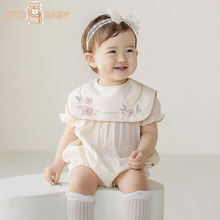 VITO Baby Newborn Baby Romper Embroidery Baby Girl Clothes Baby Girl Romper 1st Birthday Party Princess Clothes Toddler Jumpsuit new arrival party girl baby romper clothes embroidery turkey pattern ruffle newborn clothes matching boy romper gpf803 115