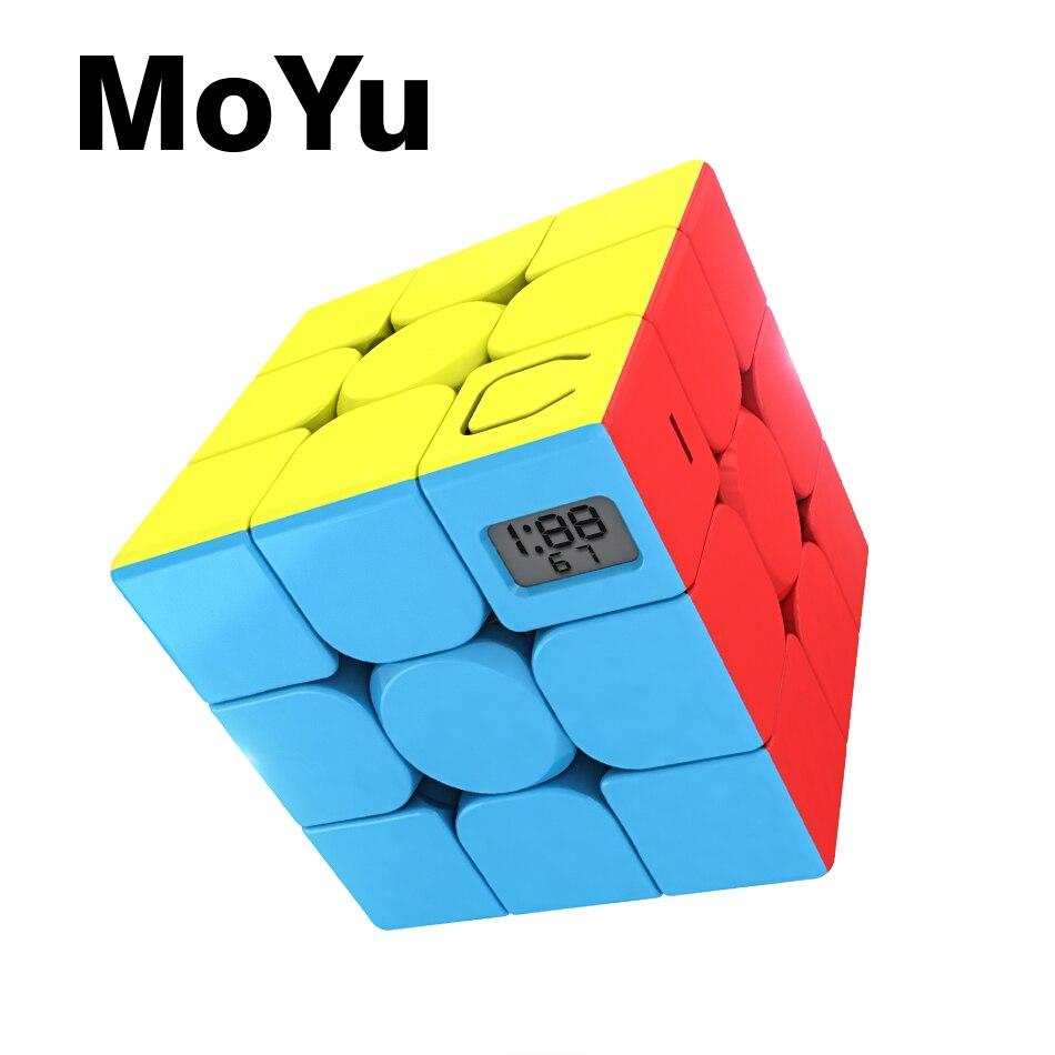 Newest MoYu MeiLong 3x3x3 Timer Cube Mofangjiaoshi 3x3 Speed Magic Cube Puzzle cubing classroom Educational Toys