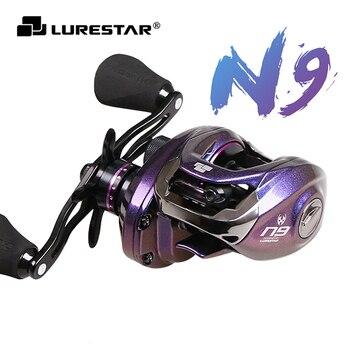 Lurestar N9 Baitcasting Reel 6kg Drag Power 196g Ultralight Fishing Reel Long Casting Fishing Wheel For Bass Trout Bait Casting