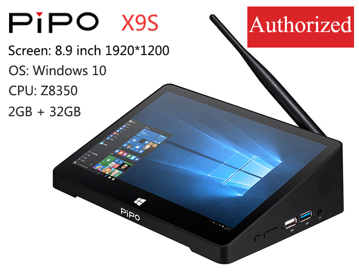 PIPO X9s Mini PC Z8350/RK3399/RK3288 8.9inch 1920*1200 Win10/Android 7.0/ Linux Tablet PC 4G 64G/2G 32G HDMI BT RJ45 Tablet Pc