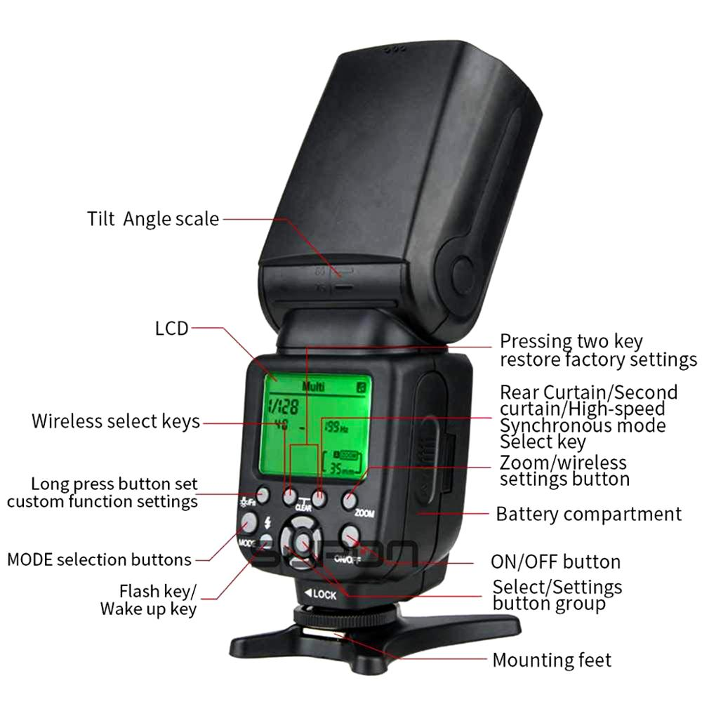 Image 4 - TRIOPO TR 988 Flash Professional Speedlite TTL Camera Flash with 
