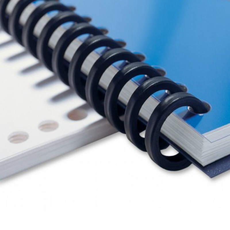 12mm Plastic Binding Ring 25 Holes Loose Leaf Paper Binder A4 DIY Binding Ring Notebook Spiral Booking Strip Cutable Coils Decor