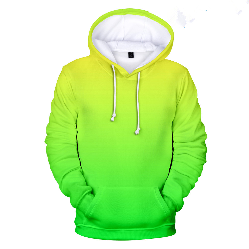 Neon green hoody men/women Harajuku Clothes Store For Customization 3D Hoodie Sweatshirt Street colorful print Hip Hop trend 4XL