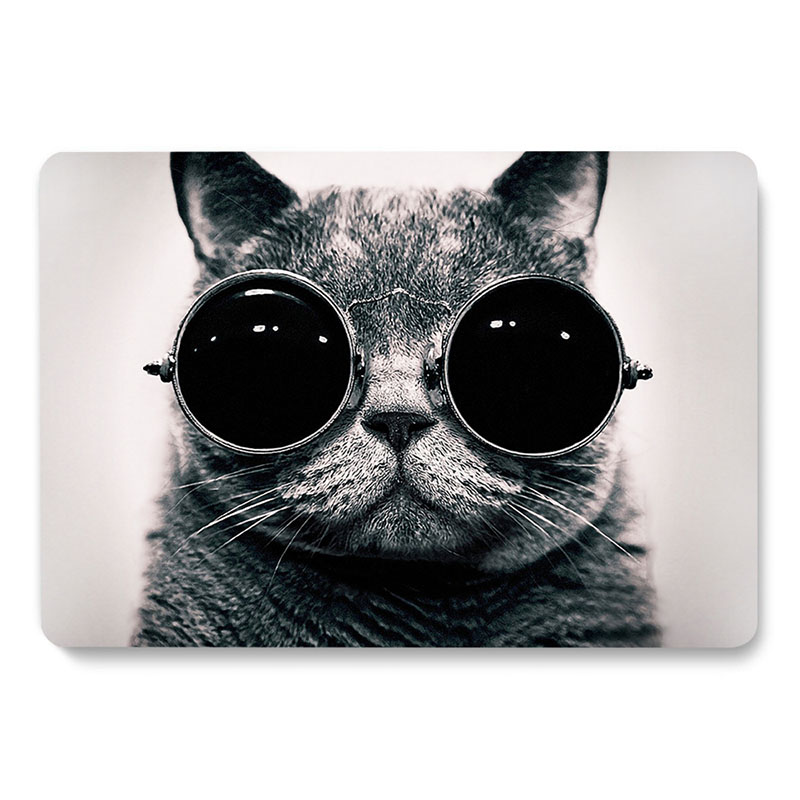 Sunglasses Cool cat Pattern Laptop Case For Apple MacBook Pro Retina Air 11 12 13 15 inch new Pro A1932 A1708 A1707 cover shell image