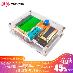 Medidor de esr mega328 transistor tester digital v2.68 ESR-T4 diodo triode capacitância mos/pnp/npn lcr 12864 tela lcd tester