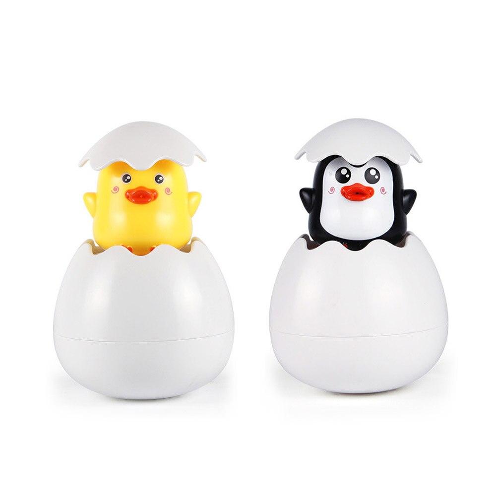 Baby Bath Toy Duck Penguin Egg Raining Watering Games Water Spray Pool Toy Lovely Plastic Bathing Shower Shape for Children