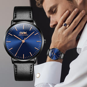 OPK мужские часы модные оригинальные подлинные кожаный ремешок 3 бар водонепроницаемые кварцевые часы Высокое качество стекло зеркало