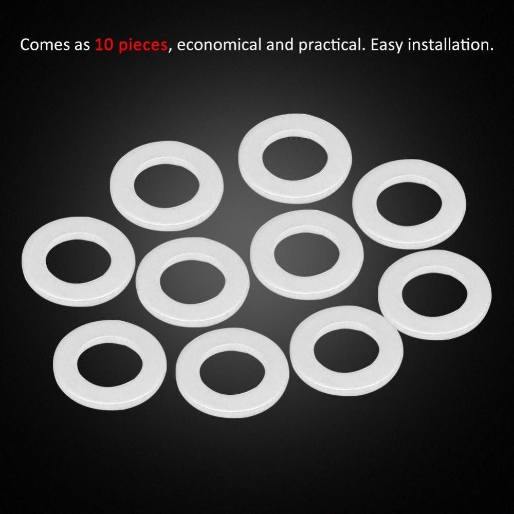 10pcs Oil Drain Plug Washer Gaskets Car Engine Repair for Honda/Acura 94109-14000