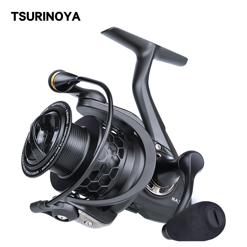 TSURINOYA Lightweight Spinning Reel NA 2000 3000 4000 5000 9BB 5.2:1 Fishing Reels tackle for Trout Peche Bass Pike zander
