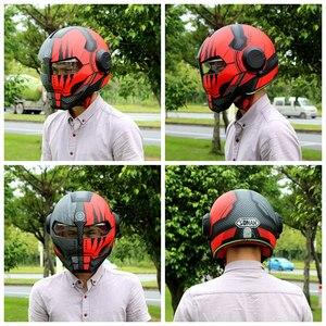 Image 3 - ソマンアイアンマンヘルメットフリップアップヘルメットeceロボットスタイルバイクcascoモンスターcasque dotの承認アイアンマンクールヘルメット