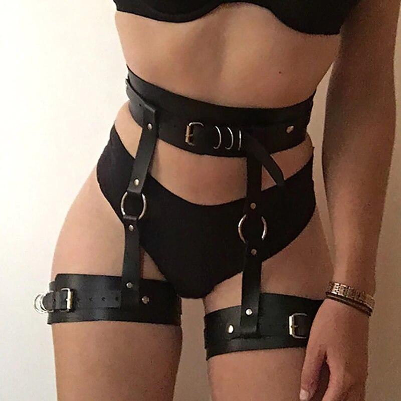 Sexy Breiten Leder Schwert Gürtel Harajuku Handgemachte Leder Harness Goth Bdsm Strumpfbänder Gürtel Dessous Erotische Hosenträger Gurt