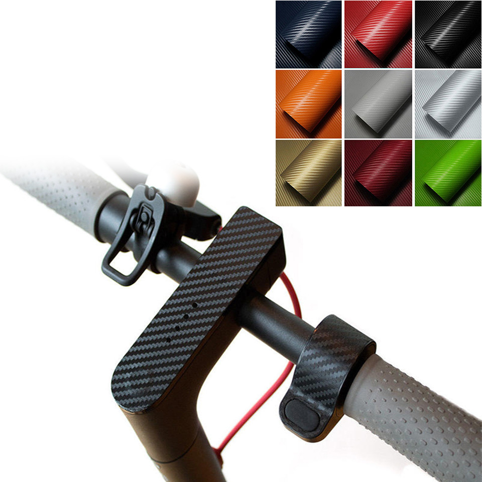 Stickers 3D Carbon Fiber For M365 Mijia Pro Electric Scooter Skateboard Car Interior Exterior Decoration Package Stickers 30x127