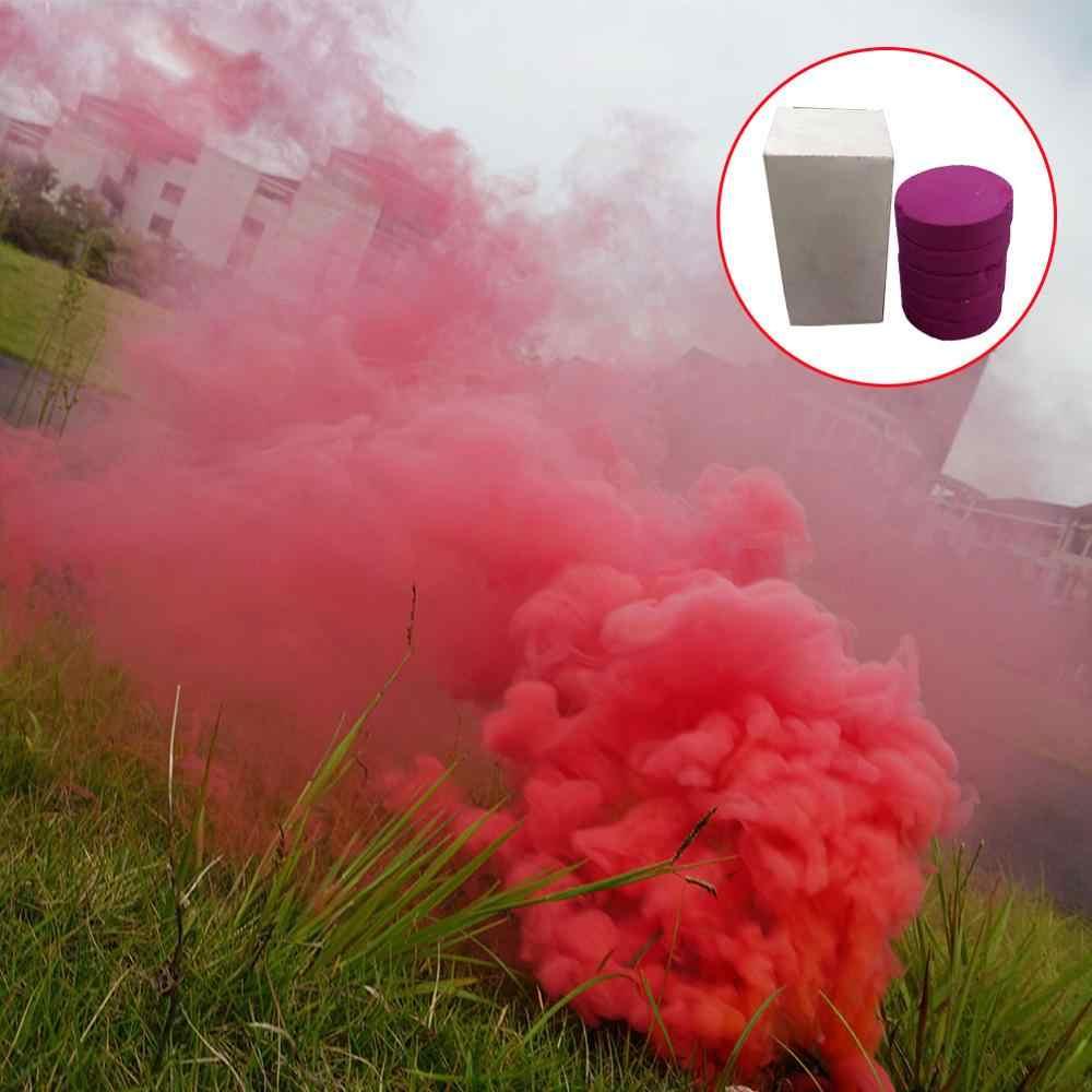 5pcs Torta Fumo Spray Colorato Effetto Fumo Rotondo Bomba Del Partito Fase di Studio Photography Oggetti di Scena la Magia Della Luce di Nebbia di Fumo Torta maker