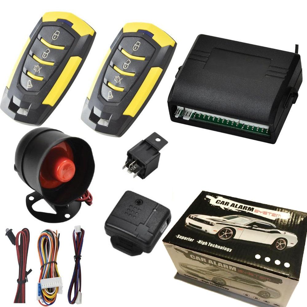 2019 High Quality 12V Car Auto Alarm Remote Central Door Locking Vehicle Keyless Entry System Kit Car Styling dfdf