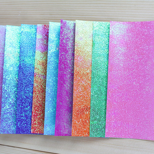 100pcs Square Origami Paper Single Side Glitter Folding Solid Color Papers 7x7cm