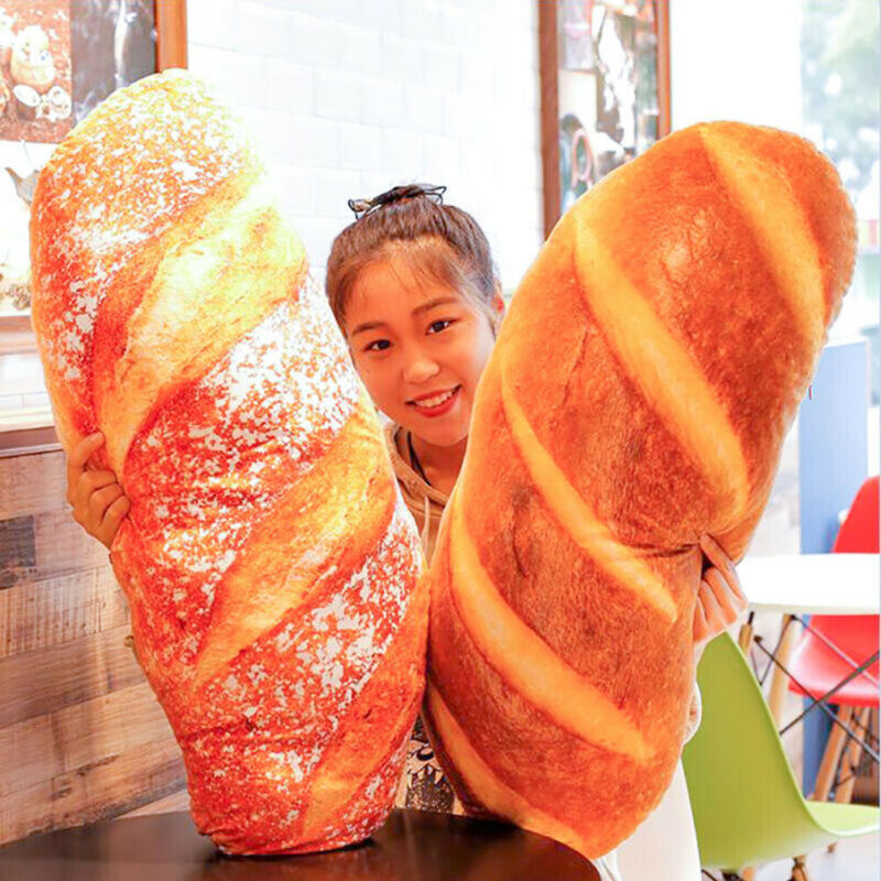 40cm Simulation French Bread Pillow Plush Toy Cushion Xmas Birthday Gift Lot New