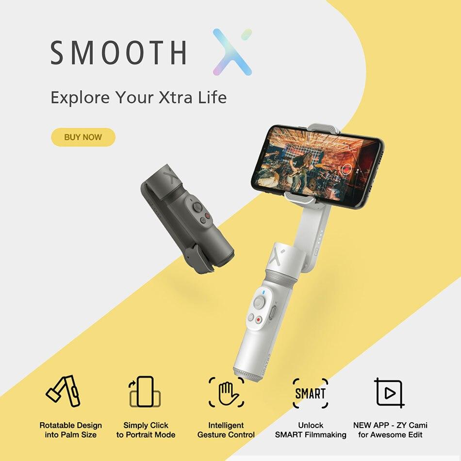 Купить zhiyun smooth x селфи палка стабилизатор gimbal palo ручной
