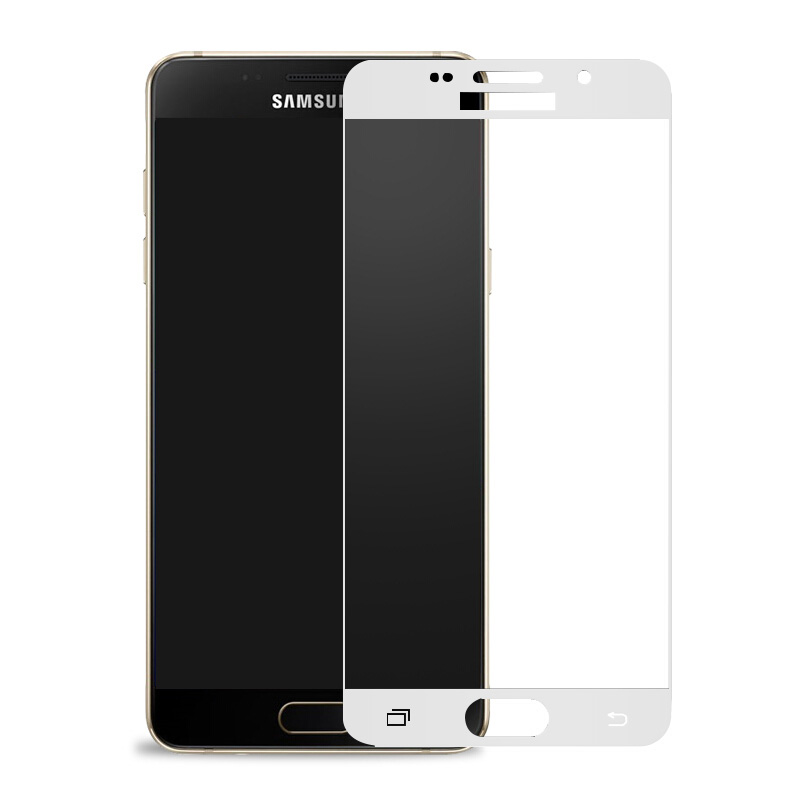 Image 3 - Curved Protective Glass on the For Samsung Galaxy A7 A3 A5 A6 A750 A8 2017 2018 J3 J5 J7 2016 Tempered Screen Protector Glass-in Phone Screen Protectors from Cellphones & Telecommunications