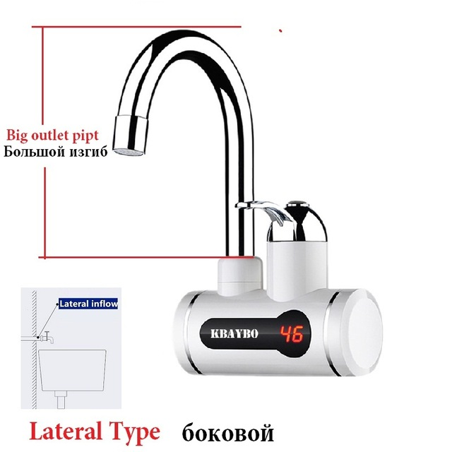 Instant Water Heater LCD Temperature Display Tankless Water Heater Tap Instant Hot Water Faucet Crane 3000W 2018 NEW