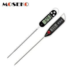 Moseko digital termômetro de alimentos cozinha forno churrasco cozinhar carne leite água medida sonda ferramenta grill churrasco cozinha termômetro
