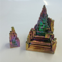 10-200g Bismuth 100% natural stone decoration Metal crystal Beautiful Natural Antimony ore specimen for art collection