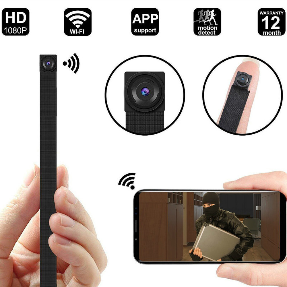 HD 1080P DIY Portable WiFi IP Mini Camera P2P Wireless Micro Webcam Camcorder Video Recorder Support Remote View Support 128G