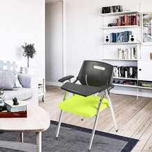 2pc Premium Steel School Chair Folding Office Chair with Arm Desk Chair with Table Arm Desk, Green & Black gramercy стул louis arm chair