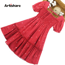 Girls Summer Dress Dot Pattern Kids Party Dresses For Girls Dot Pattern Children Dresses Ruffles Clothes Girl 6 8 10 12 14