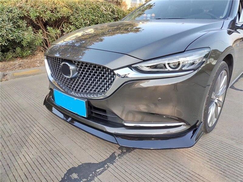 For 2014-2018 Mazda 6 Atenza Matte Black Front Bumper Body Kit Spoiler Lip