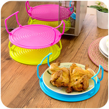 1 Pcs Multi Functional Microwave Oven Heating Layered Steaming Tray Double Layer Rack Dish Kitchen Finishing Organizer