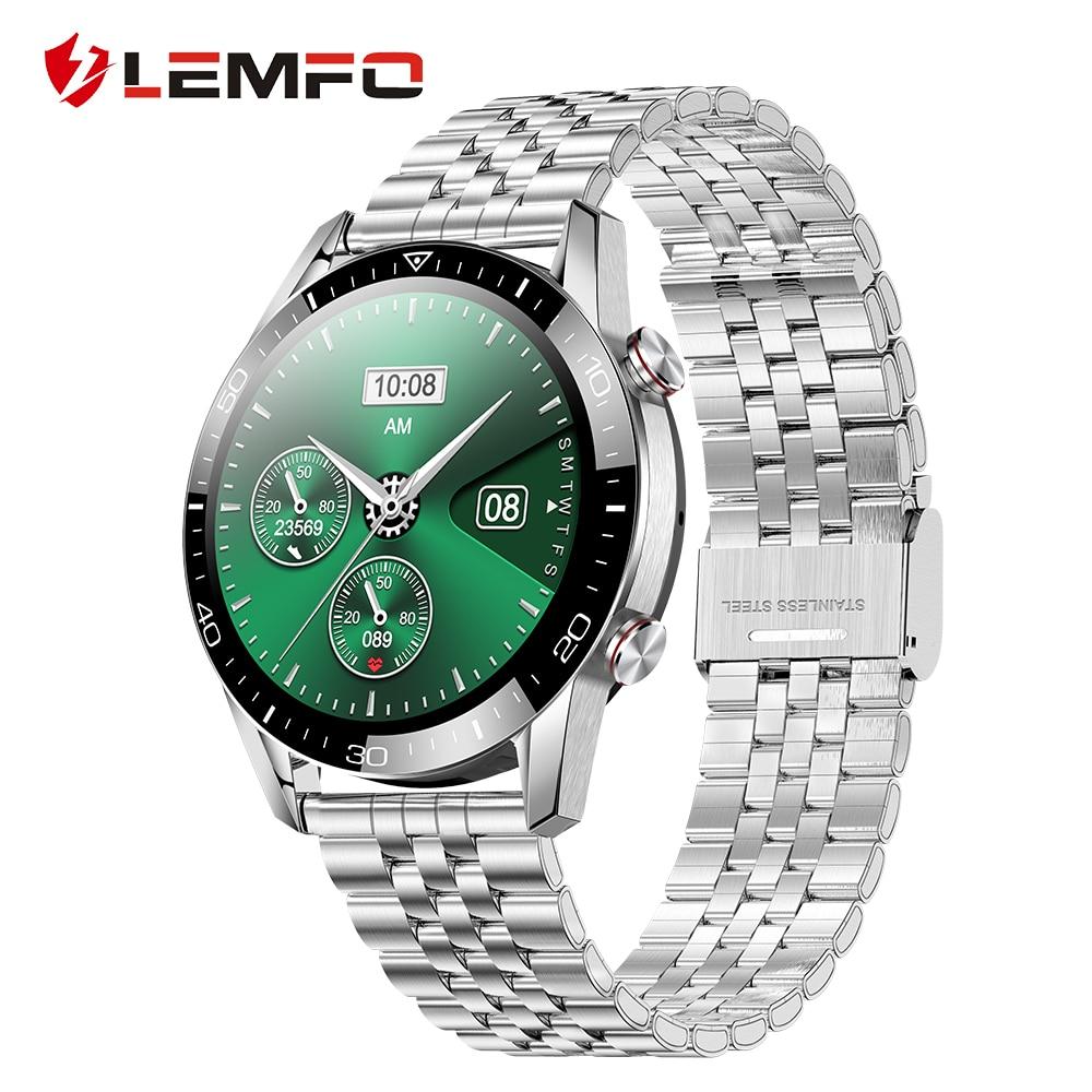 LEMFO EKG Smart Uhr Bluetooth Anruf 2021 Smartwatch Männer IP68 Wasserdichte Fitness Armband Uhr Für Android Xiaomi Huawei iPhone