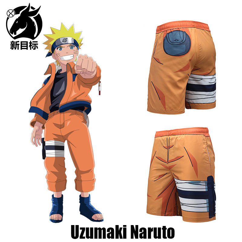 AliExpress Hot Selling Shorts 2019 Summer Wear New Style Popular Brand Beach Shorts Anime Naruto Hyuga 3D Printed Swimming Trunk