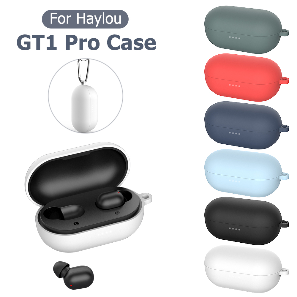 Candy Color Protective Earphone Case For Haylou GT1 Pro Soft Silicone TPU Headphone Wireless Earphone Cover For GT1 Pro New Hot