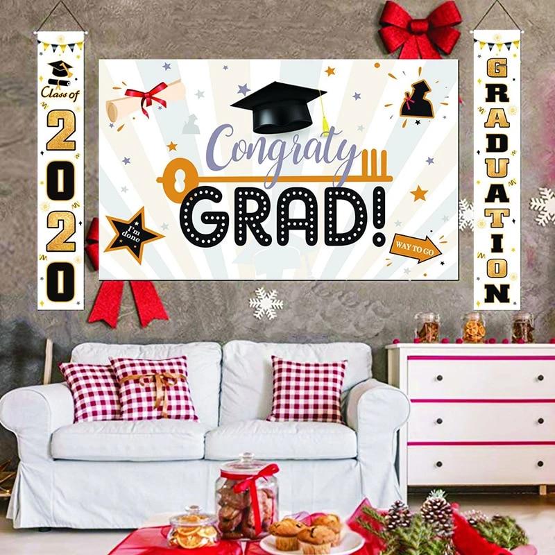 couplet graduation decorative banner set background wall curtain hangings classroom layout door decor