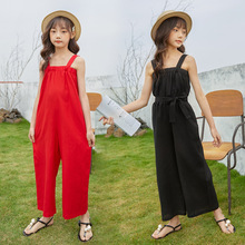 2021 Summer New Teenager Girls Cotton Strap Jumpsuits Fashion Kids Girls Elegant Casual Jumpsuit Mother and Kids Clothes, #8826