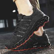 2019 Cushioning Sports Shoes Outdoor Walking Jogging Sneakers Men Breathable Athletics Running Shoes Lace-up Non-slip Trainers
