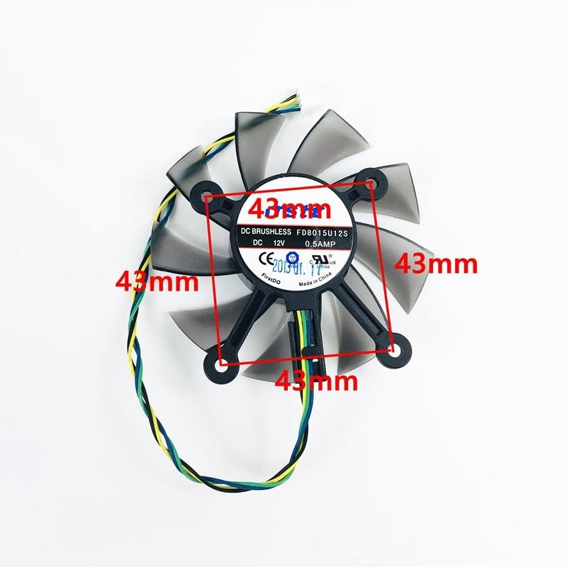 75MM FD8015U12S Cooler Fan For ASUS GTX 560 GTX550Ti HD7850 Cooling Fans