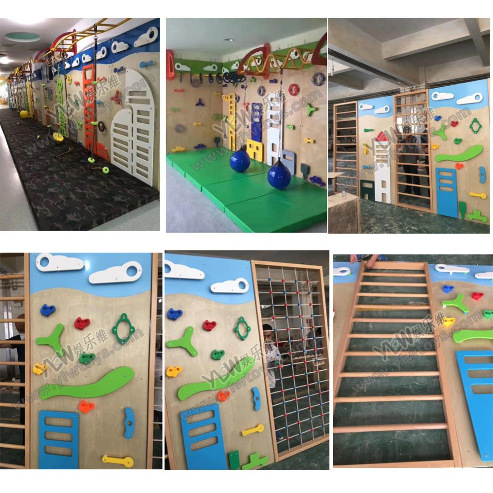 Customized Made Kids Climbing Wall Rocking Playground Physical Training Equipment