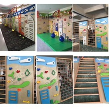 customized made kids climbing wall rocking playground physical training equipment