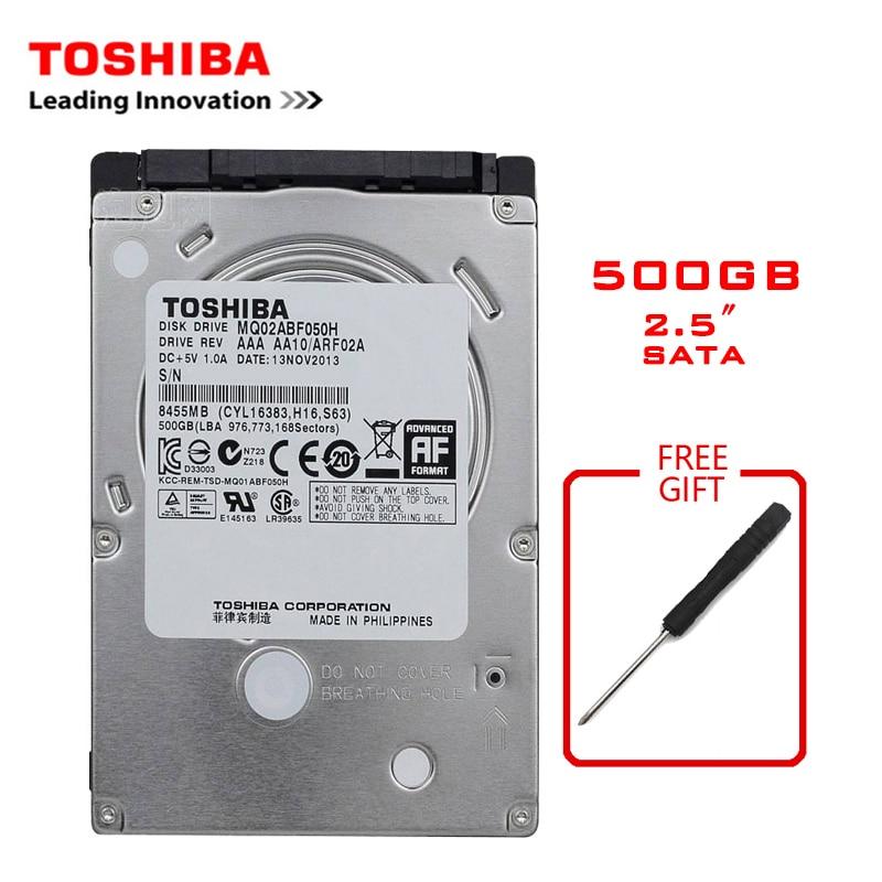 "TOSHIBA Brand 500GB 2.5"" SATA2 Laptop Notebook Internal 500G HDD Hard Disk Drive 160MB/s 2/8mb 5400-7200RPM disco duro interno"