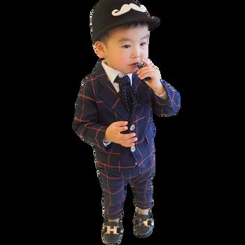 Baby Boys Clothes Plaid Coat + Pants Boy Suit Set Casual Style Boys Clothes Casual Style Toddler Kids Suit Clothes 1