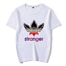 New 2019 Stranger Things Men Cotton T Shirt Eleven Demogorgon Upside Down Design T-shirt Cool Fashion Man Tshirt Tops Dropship
