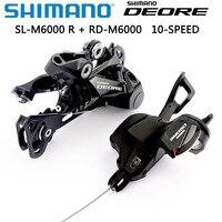 Shimano deore m6000 groupset sl m6000 alavanca de deslocamento + rd m6000 desviador traseiro mtb deore 10 velocidade sl + rd m6000 groupset