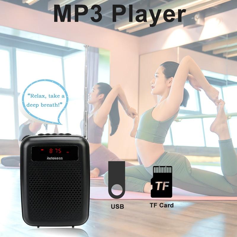 RETEKESS PR16R megafon amplificator vocal portabil profesor microfon - Audio și video portabile - Fotografie 4