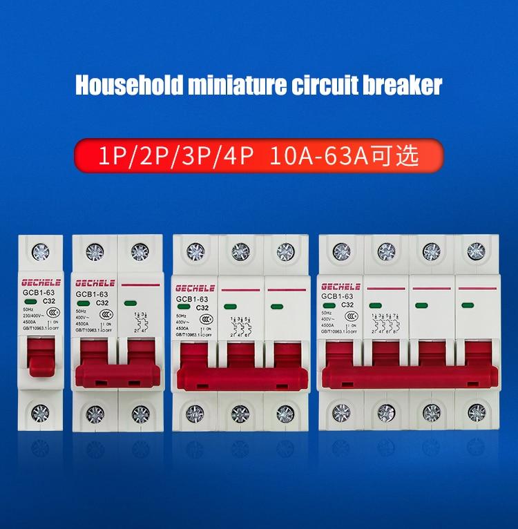 Hc0a0ab63cba44f0d83a03412adb73bb6Z - TPN 1P mini circuit breaker MCB 10A,16A,20A,25A,32A mini DZ47 air switch C45 low voltage switch