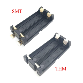 1Pcs High Quality Gold Plated SMT SMD 2 AA Battery Holder Battery Box Battery Case THM 2AA Holder image