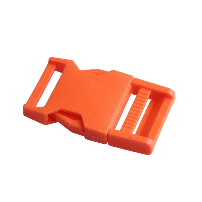 2 шт 25 мм Красочные пряжки ABS застежки для Паракорда браслет рюкзаки одежда сумки запчасти - Цвет: Orange