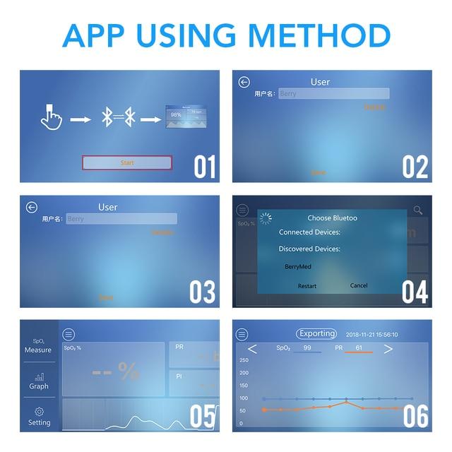 OLIECO Bluetooth Finger Pulse Oximeter SpO2 PR Oximetro Sleep Heart Rate Monitor Blood Oxygen Saturation Meter Home Health Care 4