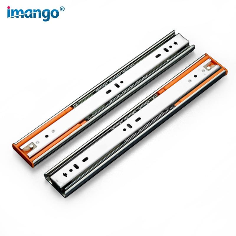 "12""-22"" inch Drawer Slides, Silent Buffer Damping Slide Stainless Steel Cabinet Drawer Self locking Rails 30-55cm 1 Pair (2pcs)"